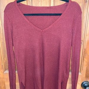 Woman's Urban Outfitters Maroon V-Neck Sweater M
